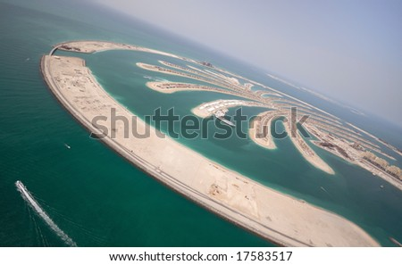 The Massive Jumeirah Palm Island Development In Dubai