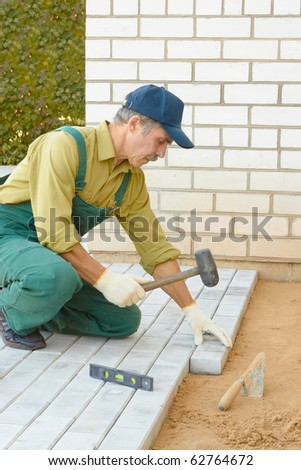 The master builds a roadway from a stone