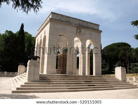 the Mausoleo Ossario Garibaldino  on the Janiculum Hill in Rome, dedicated to the fallen for Rome between 1849 (II Roman Republic) and 1870 #520151005