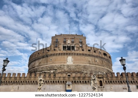 The Mausoleum of Hadrian, usually known as Castel Sant'Angelo, Rome, Italy
