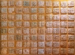The Mayan Alphabet and Writing System with glyphs.