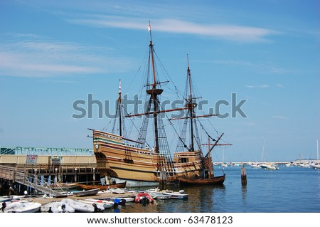 The Mayflower II at Plymouth, MA