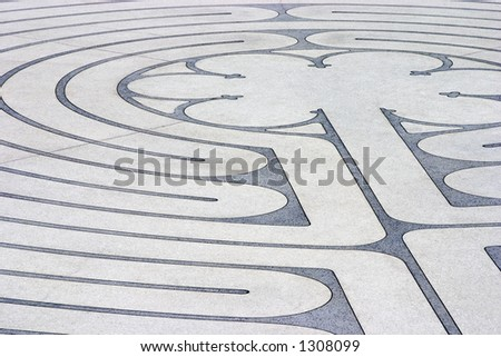 The mazelike labyrinth with its roots in Greek mythology.