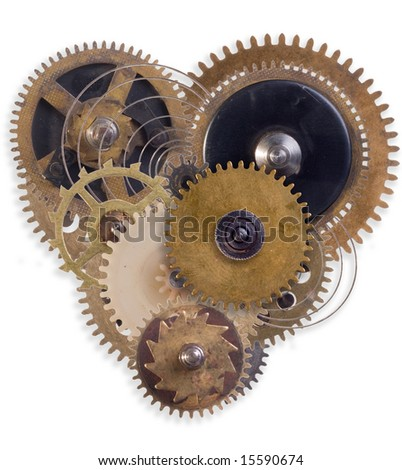 the mechanical heart made of small parts (2)