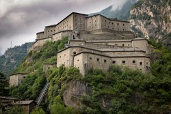 the medieval Bard fortress, Aosta Valley, Italy