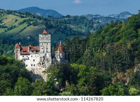 The medieval Castle of Bran The castle guarded in the past the border between Transylvania an Wallachia It is also known for the myth of Dracula