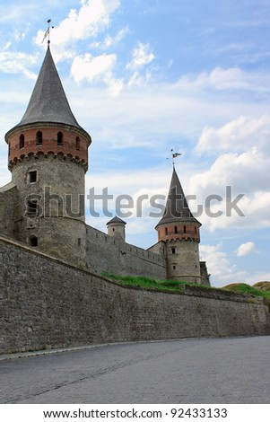 The medieval fortress in Kamenets Podolskiy, Carpathians, Ukraine