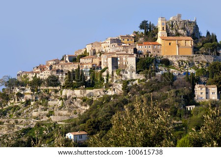 The medieval town of Eze