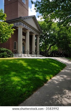 The Memorial Church in Harvard Yard