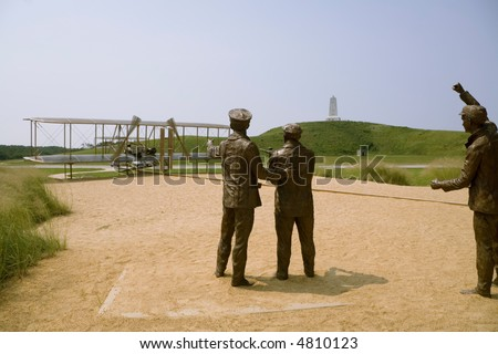 The memorial to the aviation pioneer Orville and Wilbur Wright in Kill Devil Hill, North Carolina