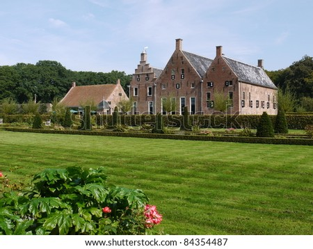The Menkemaborg a castle in Uithuizen in the Netherlands
