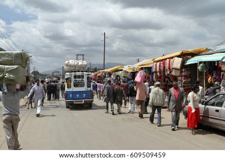 the mercato market of addis...
