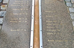 The Meridian line at the Royal Observatory in Greenwich, south-east London