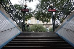 The metro station of paris