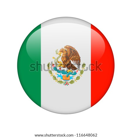 The Mexican flag in the form of a glossy icon.