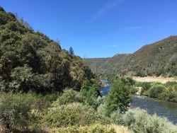 The Middle Fork of the American River winds through the canyon.