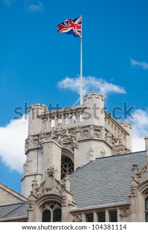 The Middlesex Guildhall (Supreme Court) tower, London, UK