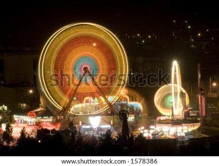 The midway at the Capitol Lake Fair, Olympia Washington, Capital City, Washington State, USA
