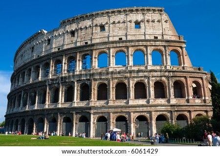 The mighty Colosseum in Rome