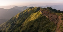 The mighty ridges of the hills spread around the village of Reiek in Mizoram.