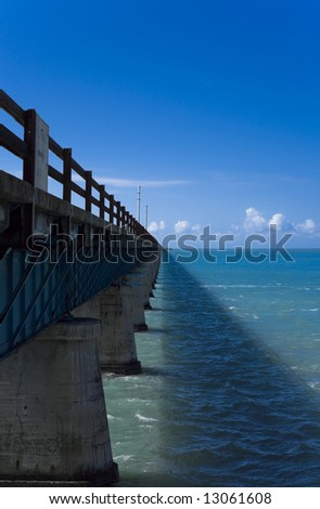 The 7 mile bridge connecting Key West, Florida to the rest of the US.