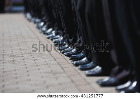 The military ceremony at the school Sea Cadet Corps of Andrew Pervozvanniy