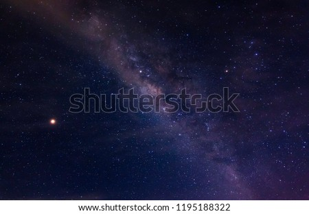 The milky and star.
