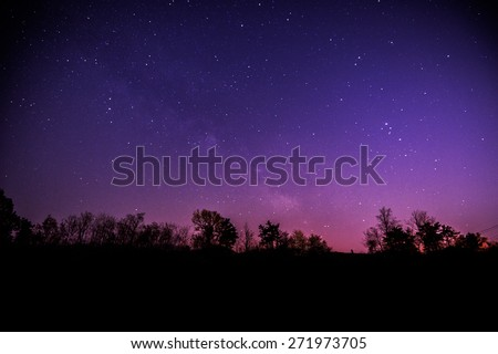 The Milky Way and star with some trees. #271973705