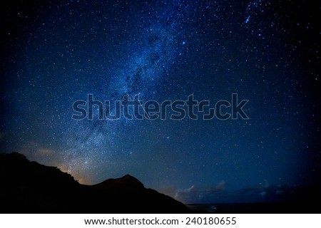 The Milky Way during the Leonid meteor shower as one shooting star passes through