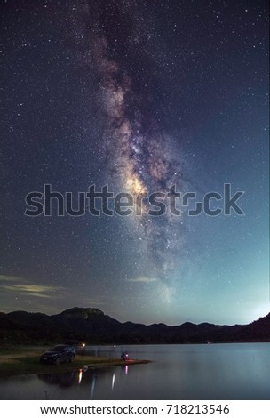 The milky way in ChiangMai Thailand #718213546