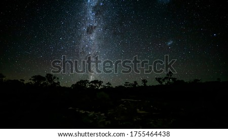 The Milky Way seen from the mountains of the Grampians National Park in  Victoria, Australia at a clear and starry night in summer. Stock photo ©