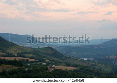 The Millau Viaduct in France - stock photo