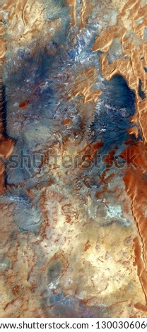 the mines of King Solomon, tribute to Pollock, vertical abstract photography of the deserts of Africa from the air, aerial view, abstract expressionism, contemporary photographic art, abstract natural