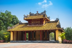 The Minh Mang Royal Tomb in Hue, Vietnam, is the final resting place of one of the Nguyen Dynasty's staunchest Confucians