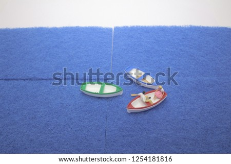 the mini figure of boat with figure  #1254181816