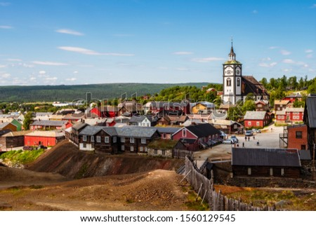 The mining town of Roros is sometimes called Bergstaden which means mountain town due to its historical notoriety for copper mining. It is one of two towns in Norway that were historically designated