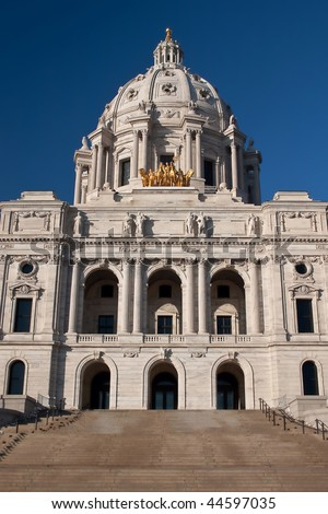 The Minnesota State Capitol is located in Minnesota's capital city, Saint Paul, and houses the Senate, House of Representatives, the Office of the Attorney General and the Office of the Governor.