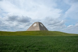 The missile site radar pyramid at the Stanley R. Mickelsen Safeguard Complex Nekoma, North Dakota.