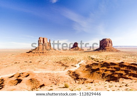 The Mittens and Merrick Butte, Monument Valley National Park, Utah-Arizona, USA