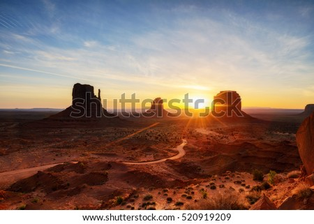 Shutterstock The mittens, Mesa, red rock at Monument Valley, Navajo Tribal Park, Arizona USA