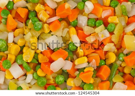 the mixed vegetables background - stock photo
