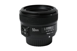 the 50mm focal lens is isolated on a white background