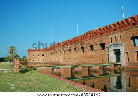 the moat entrance to Fort Jefferson in the Dry Tortugas National Park