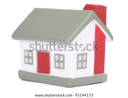 the model house isolated on white background