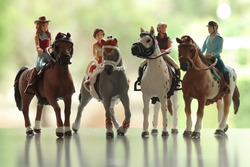 the models of horse riders