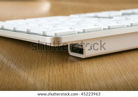 The modern and stylish keyboard and usb connect