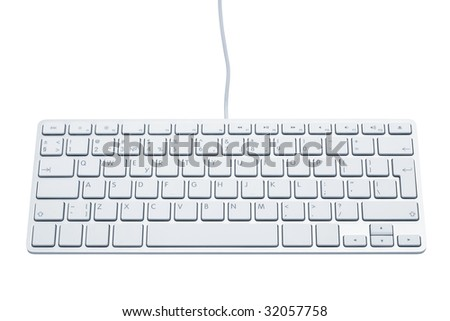 The modern and stylish keyboard for a computer