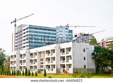 The Modern building under construction