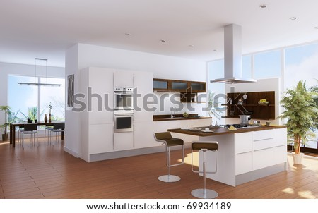 Interior Design Kitchen on The Modern Kitchen Interior Design Stock Photo 69934189   Shutterstock