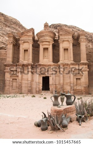 The Monastery/El Deir/Ad Deir, Petra's largest monument, located in Jordan Stock fotó ©